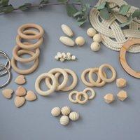 Деревянные кольца и бусины