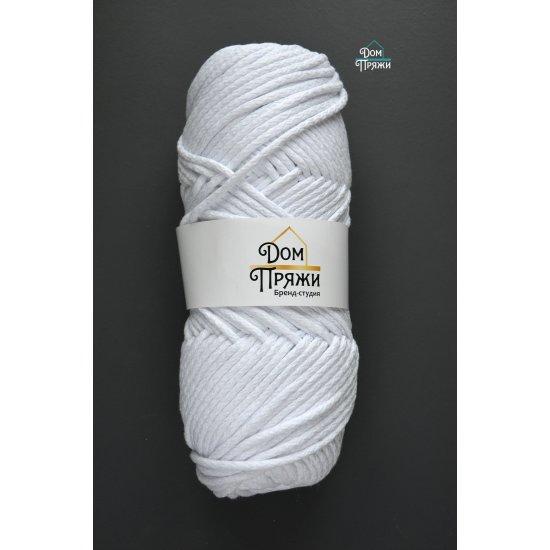 Шнур х/б 5мм (Белый) 100м DECO