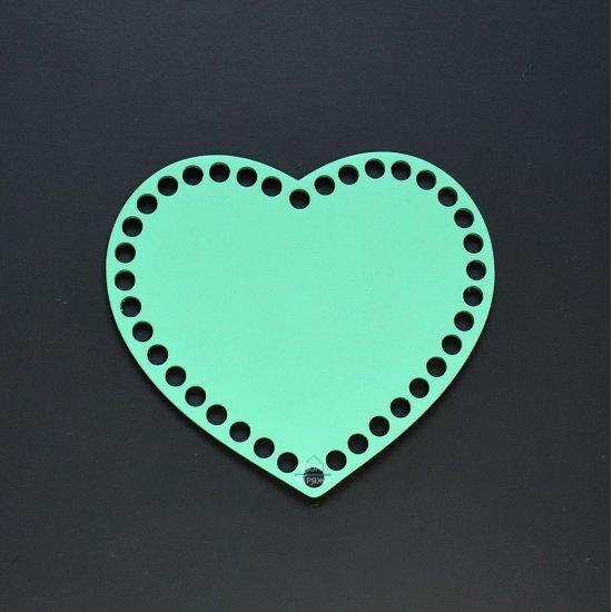 Донышко сердце (Бирюзовый) 17х14см