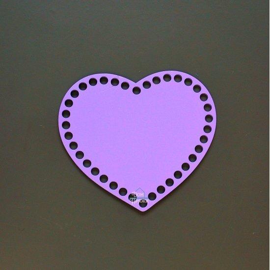Донышко Сиреневое сердце 17х14см Houseyarn