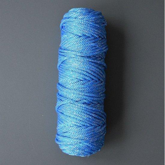 Шнур п/п с люрексом 4,5мм (Синий с серебром) DECO