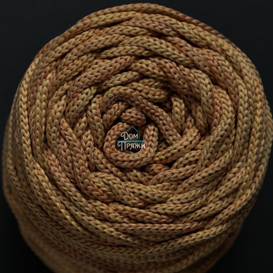 Шнур п/э 4мм меланж Клевер (Молочный+коричневый)
