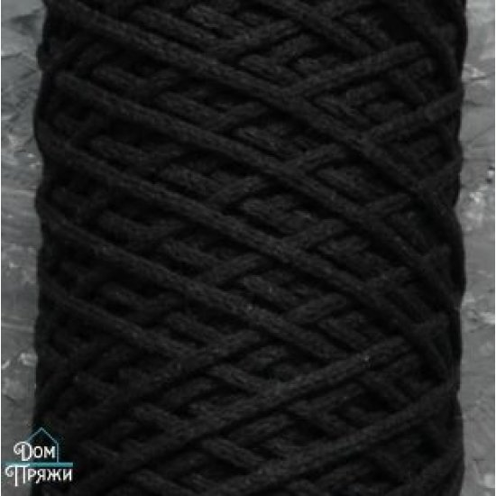 Шнур х/б 3мм (Черный) 100м DECO