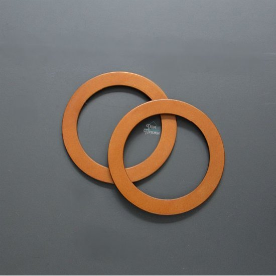 Ручки для сумки деревянные Кольцо стандарт (Дуб) 2 эл.
