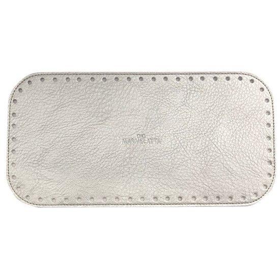 Донышко для сумки эко-кожа (Серебро-перламутр) 15х30см