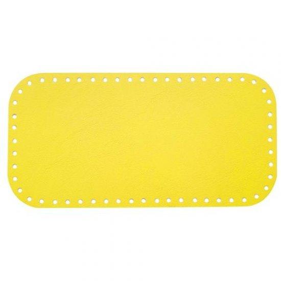 Донышко для сумки эко-кожа (Лимон) 15х30см Houseyarn