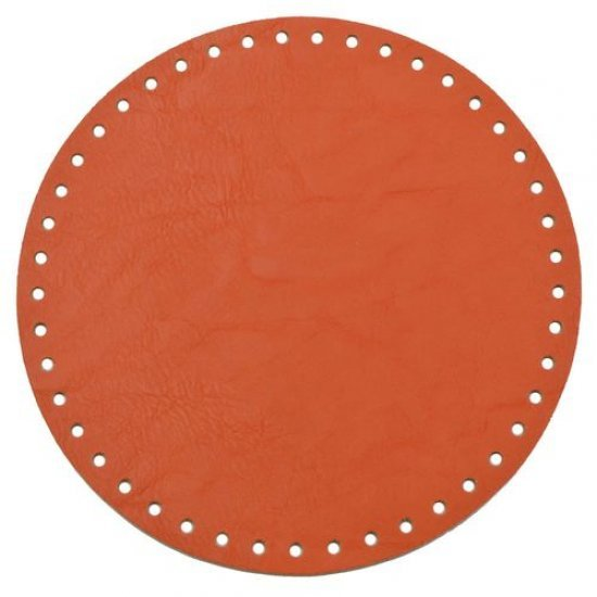 Донышко для сумки эко-кожа круглое (Папайя) 20см