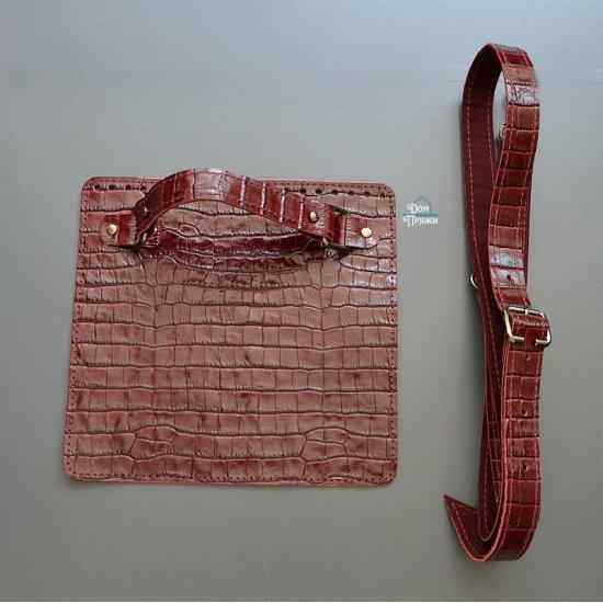 Набор для сумки кожа (Бордо) 20х19см/130см Houseyarn