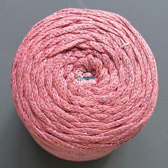 Шнур х/б 3мм Yarnart Macrame cotton с люрексом (Пыльная роза) 205м Yarnart