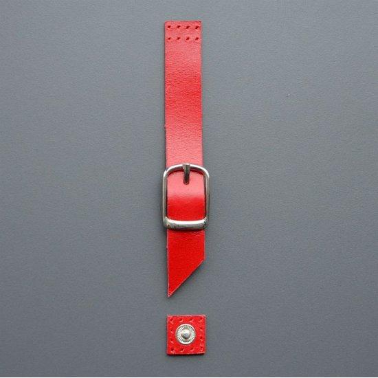 Магнитная кнопка с пряжкой кожа (Красный)