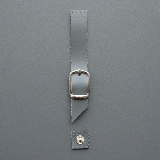 Магнитная кнопка с пряжкой кожа (Серый)