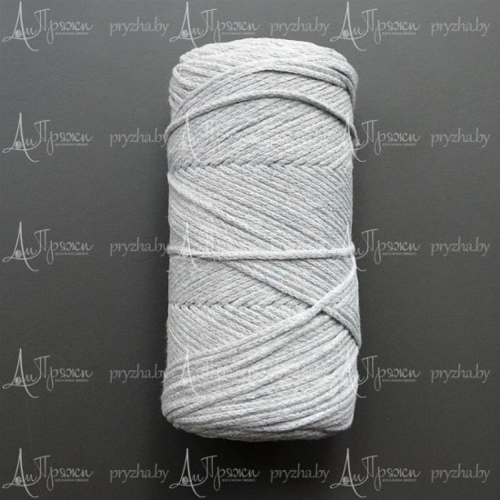 Шнур х/б 3мм Yarnart Macrame cotton (Светло-серый) 225м
