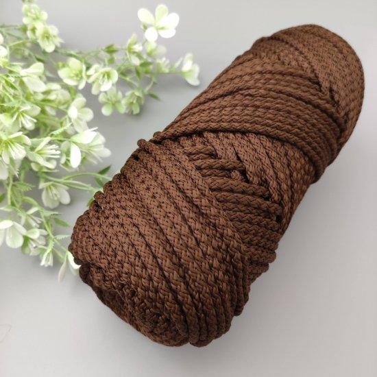 Шнур п/э 5мм (Горький шоколад) 100м DECO