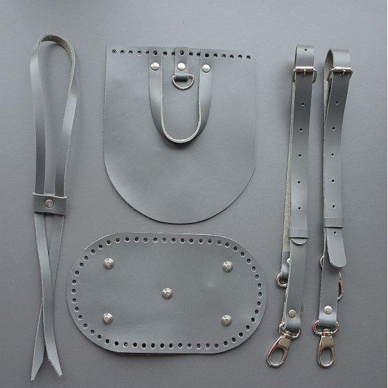 Набор для рюкзака кожа (Серый) 5 элем.