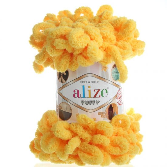 Пряжа Alize Puffy (Желтый) 216 Alize