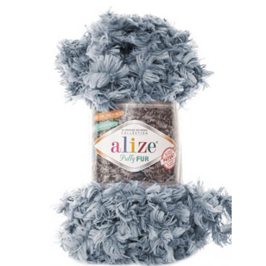 Пряжа Alize Puffy Fur 6107 Серый Alize