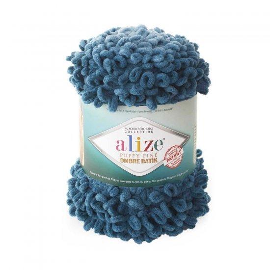 Пряжа Alize Puffy Fun ombre batik (Морская волна) 7263