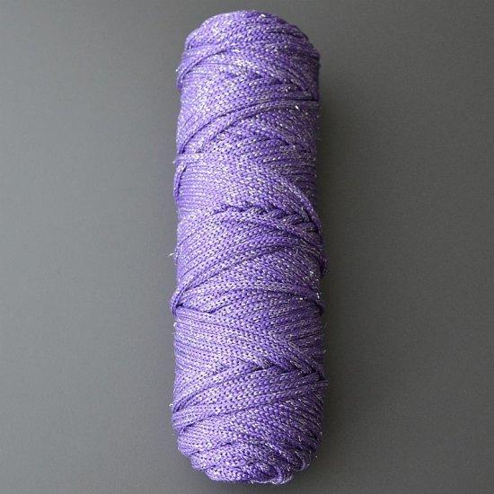Шнур п/п с люрексом 4,5мм (Фиолетовый с серебром) DECO