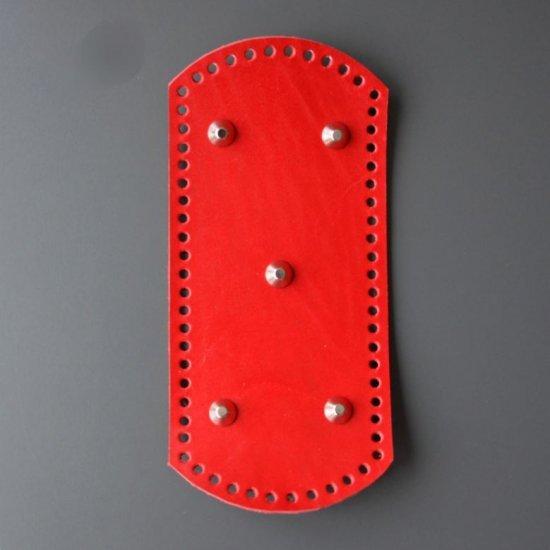 Донышко кожа (Красный) 26х12см Houseyarn