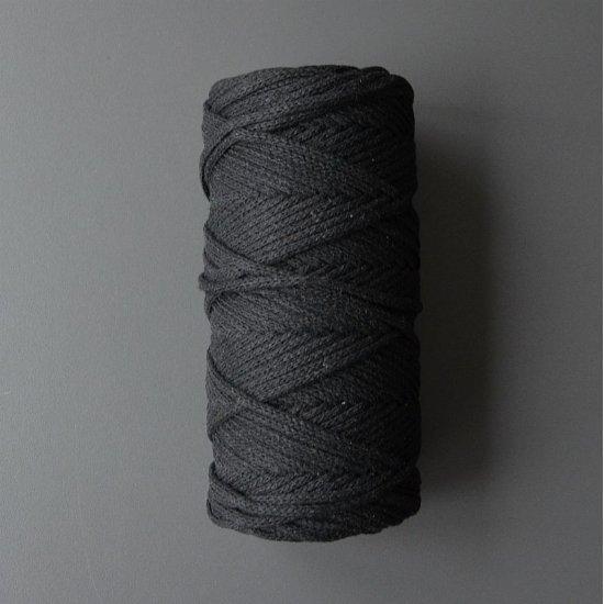 Шнур х/б 4мм (Черный) 100м DECO