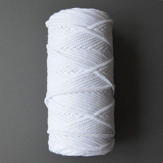 Шнур х/б 4мм (Белый) 100м DECO