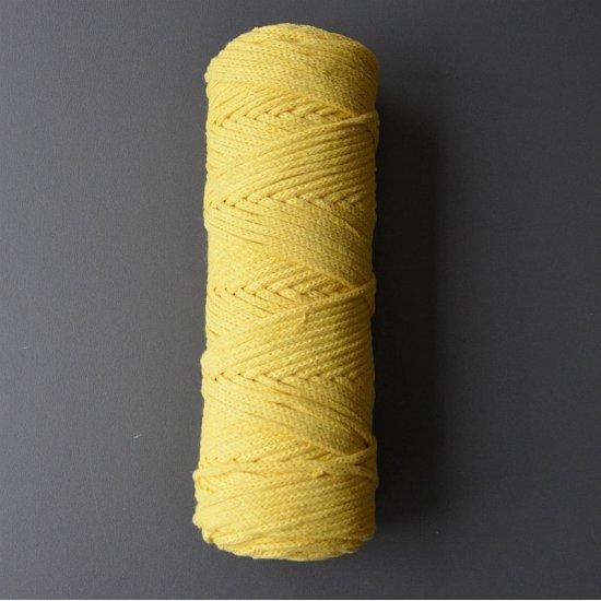Шнур х/б 4мм (Желтый) 100м DECO