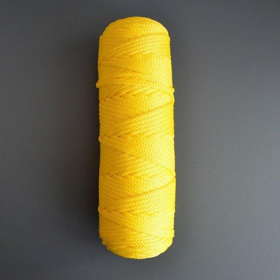 Шнур п/э 4мм (Желтый) 100м DECO