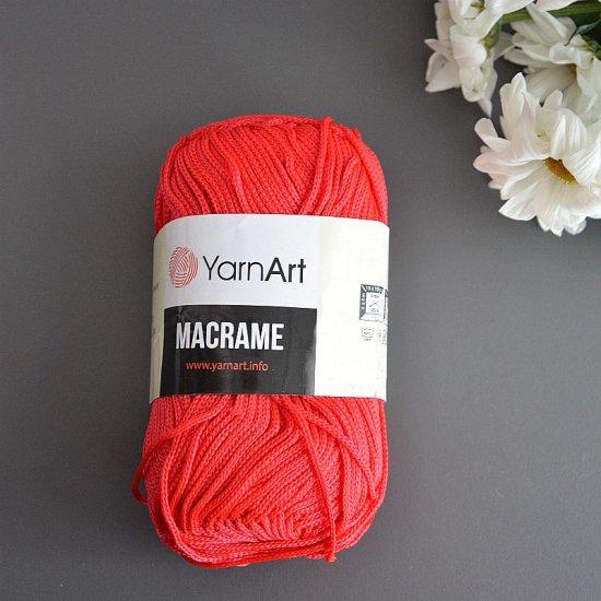 Шнур п/э 2мм Yarnart Macrame (Красный люкс) 130м