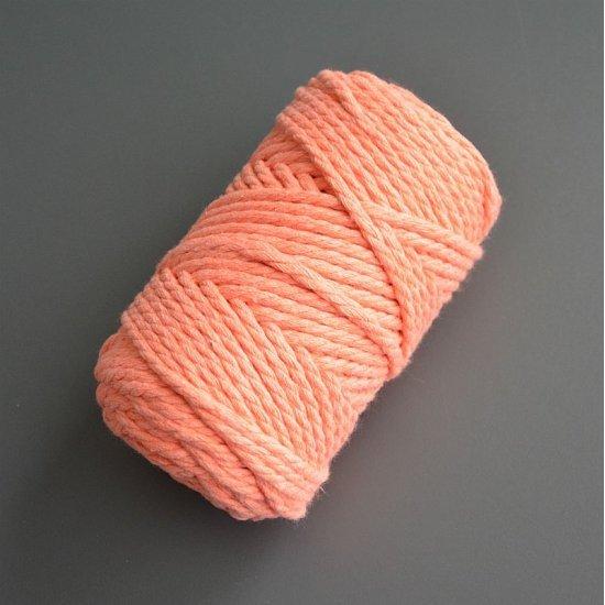 Веревка крученая х/б 3мм (Персик) 65м Yarnart