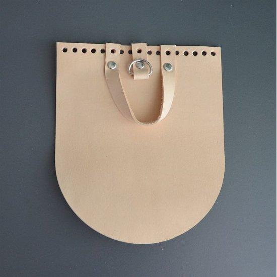 Клапан для рюкзака кожа (Молочный) 17х20см