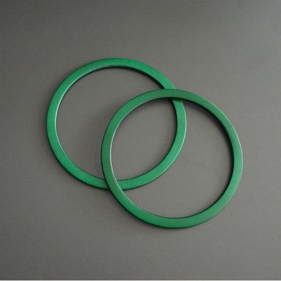 Ручки кольца узкие (Зеленый) 14,5см