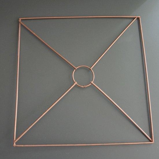 Каркас для абажура Квадрат 29х29см (Медный)
