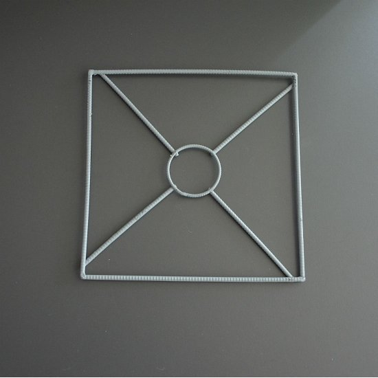 Каркас для абажура Квадрат 20х20см (Металл.)