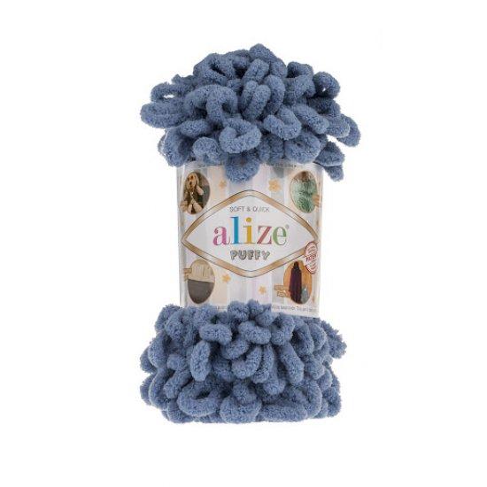 Пряжа Alize Puffy (Голубой) 374