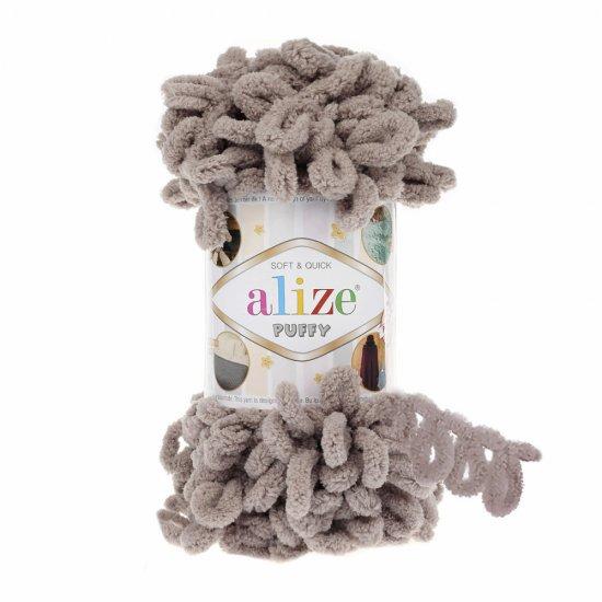 Пряжа Alize Puffy (Кофе с молоком) 268