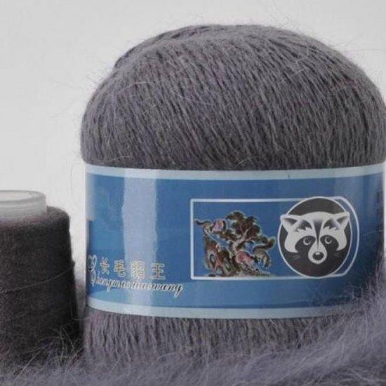 Пряжа Пух норки (Серый асфальт) 804