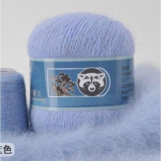 Пряжа Пух норки (Голубой) 825