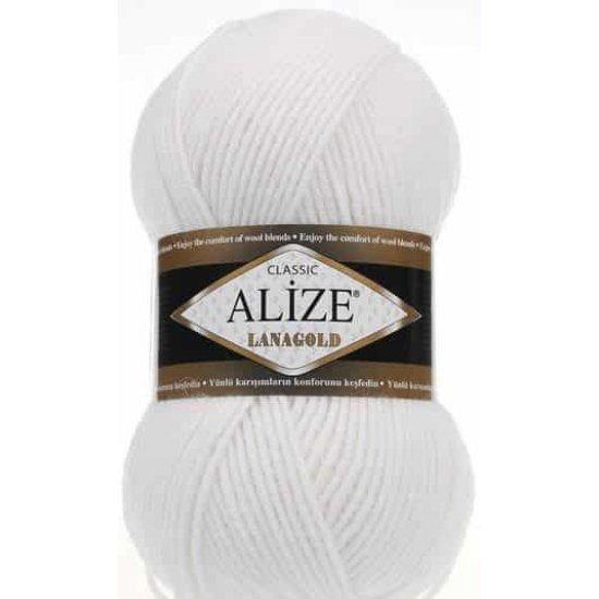 Alize Lana Gold Classik (Белый) 55
