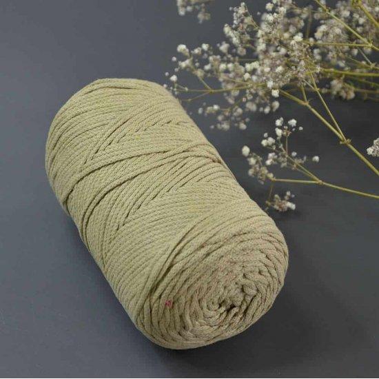 Шнур х/б 3мм Yarnart Macrame cotton (Сено) 225м