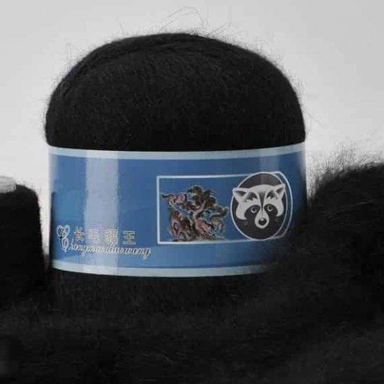 Пряжа Пух норки (Черный) 811