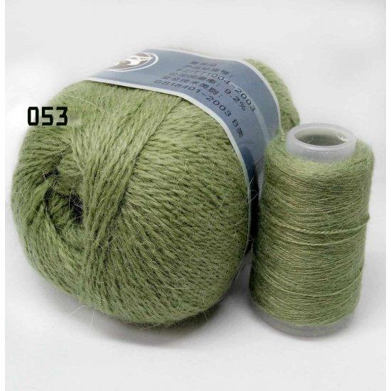 Пряжа Пух норки (Оливковый) 053 Houseyarn