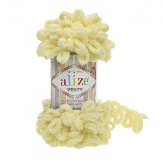 Пряжа Alize Puffy (Светлый лимон) 13