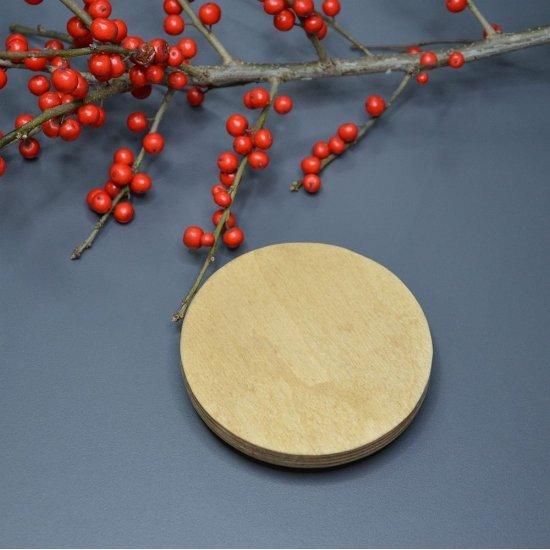 Крышка для корзины (Натуральное дерево) Круг 10см