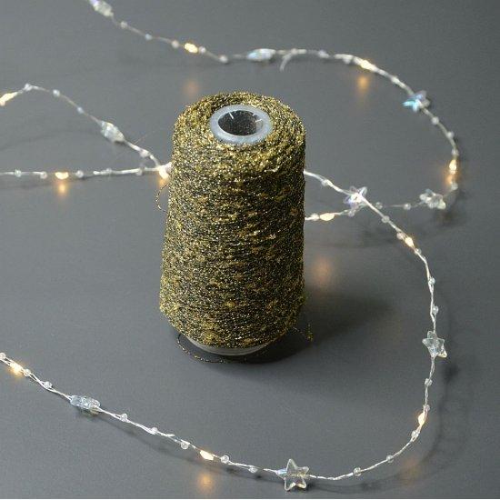 Люрекс узелковый (Золото с черным) 700м