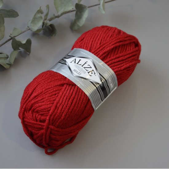 Alize Superlana maxi (Красный) Alize