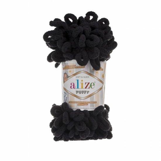 Пряжа Alize Puffy (Черный) 60