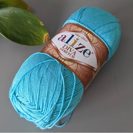 Alize Diva stretch (Бирюзовый) 376 Alize