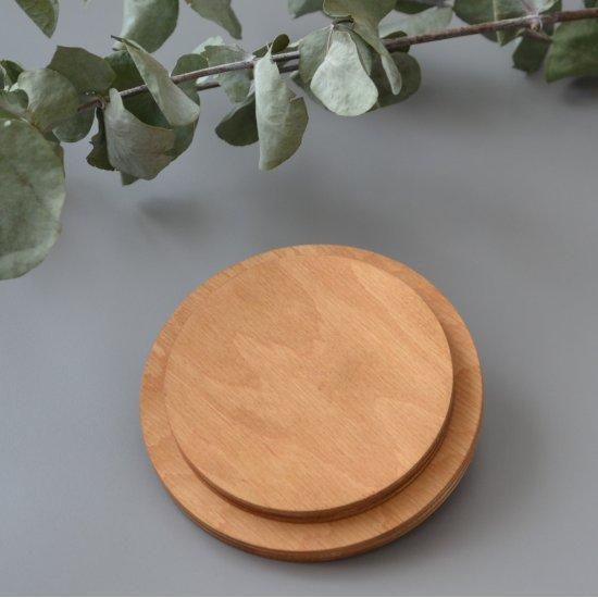 Крышка для корзины с ручкой (Натуральное дерево) Круг 12см Houseyarn