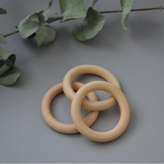 Кольцо деревянное для макраме 70мм Houseyarn