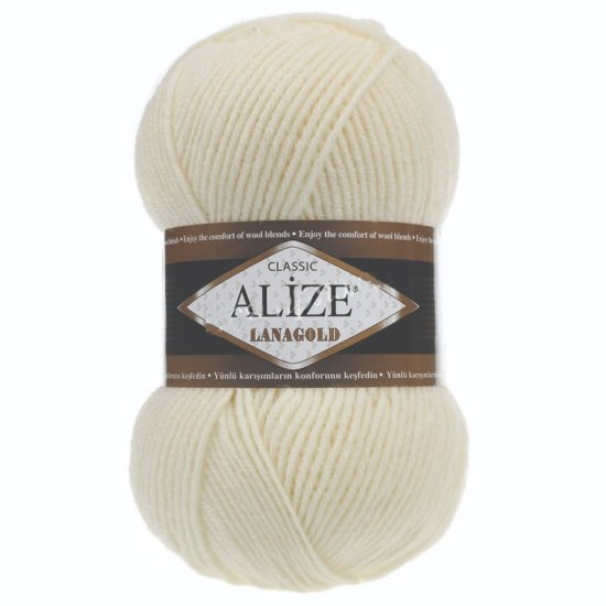 Alize Lana Gold Classik (Сливочный) 01 Alize